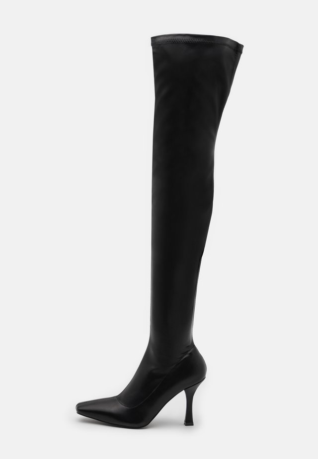 OPYUM - Overknee laarzen - black