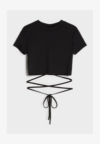 Bershka - T-Shirt basic - black - 4