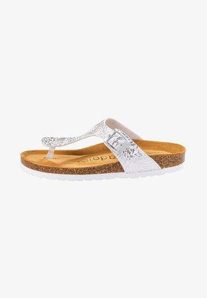T-bar sandals - weiß ornament