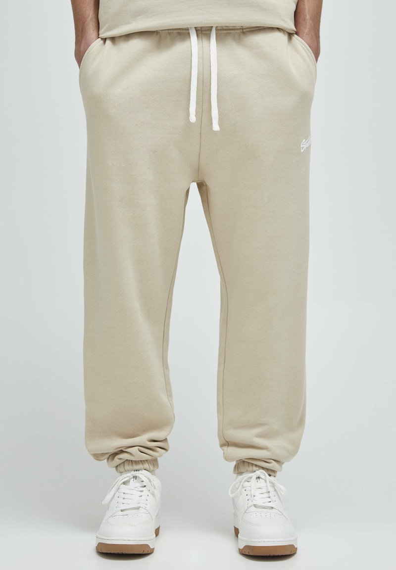 PULL&BEAR - Pantalon de survêtement - beige