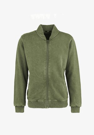 BARIS - Zip-up sweatshirt - vintage military green