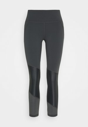 POWER SCULPT COLOUR BLOCK WORKOUT LEGGINGS - Medias - slate grey
