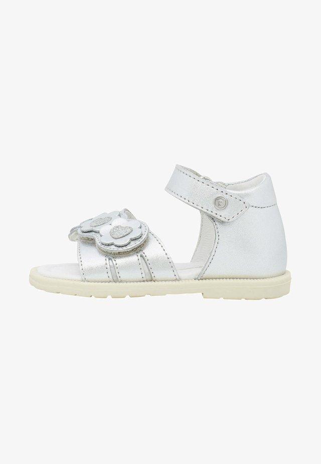 CLATTER CON FIORI E CUORI - Walking sandals - silber