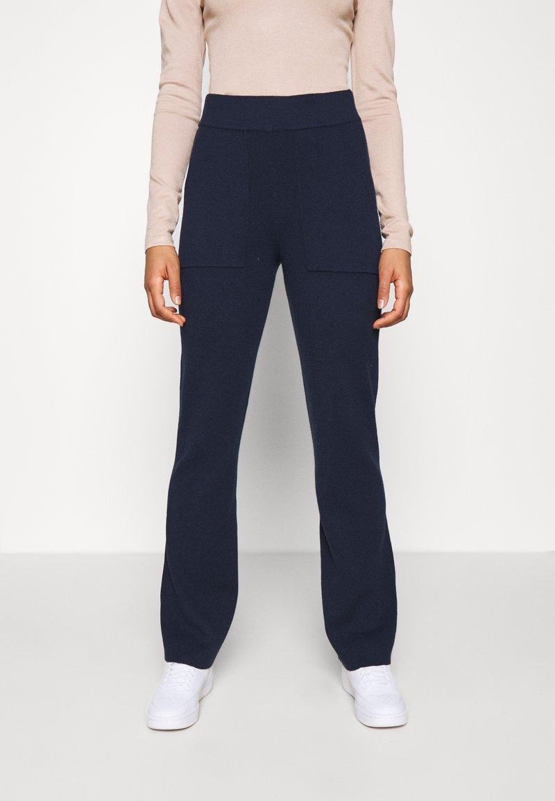 YAS - YASSANNA - Trousers - navy blazer