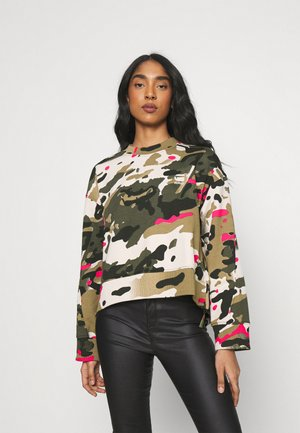 LOOSE FIT CAMO CREWNECK - Sweatshirt - whitebait/multi