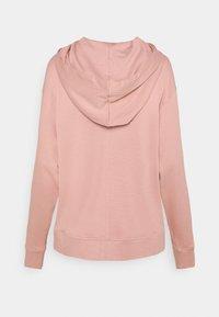 Tommy Hilfiger - OVERSIZED ZIP THROUGH HOODIE - Zip-up sweatshirt - soothing pink - 1