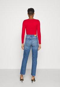 Monki - MOLUNA JEANS - Straight leg jeans - blue medium dusty - 2