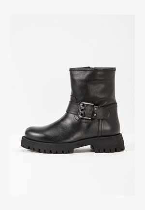Cowboy/biker ankle boot - black blk