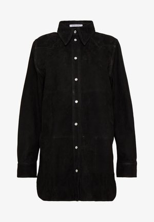 VICTORIA - Button-down blouse - black