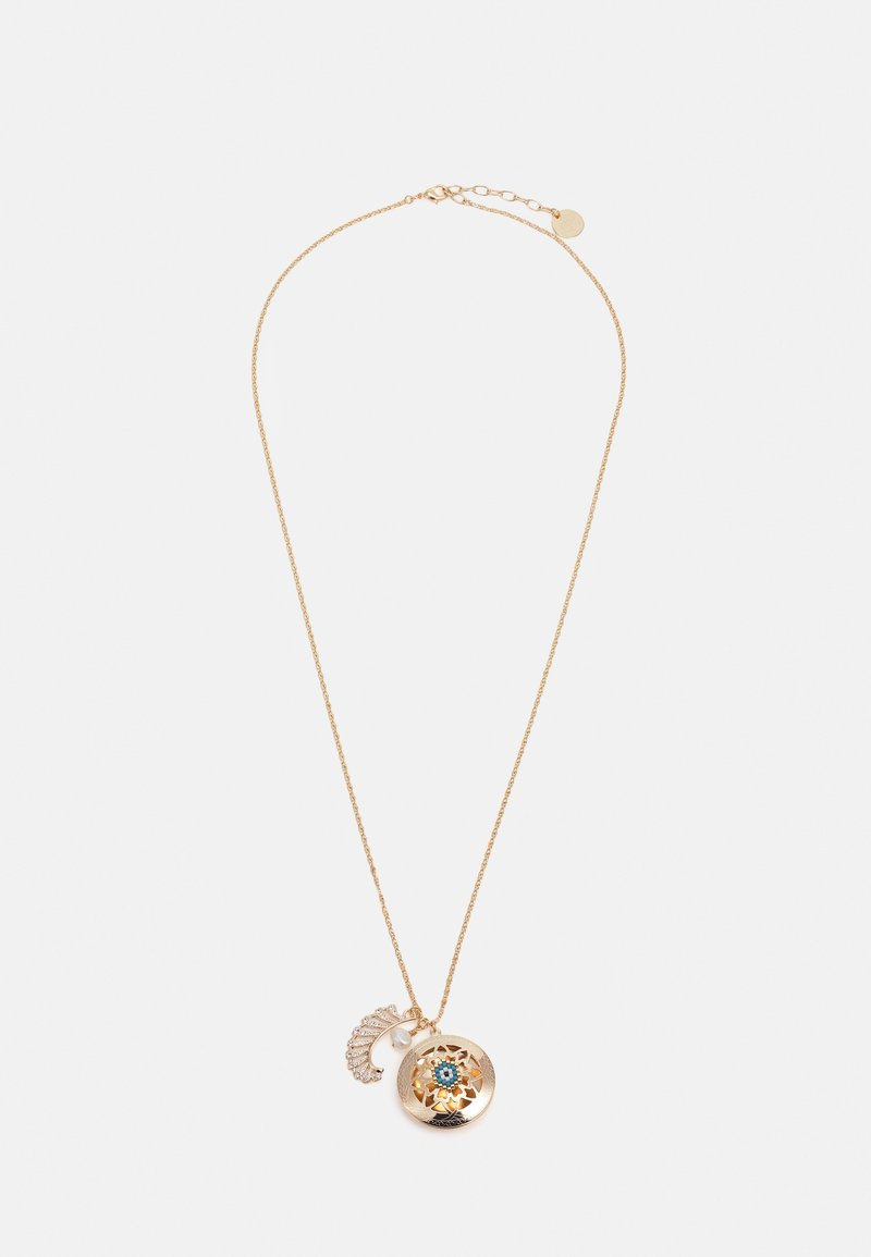 Anton Heunis - LONG CHAIN WITH LOCKET AND CHARMS - Ketting - blue/cream