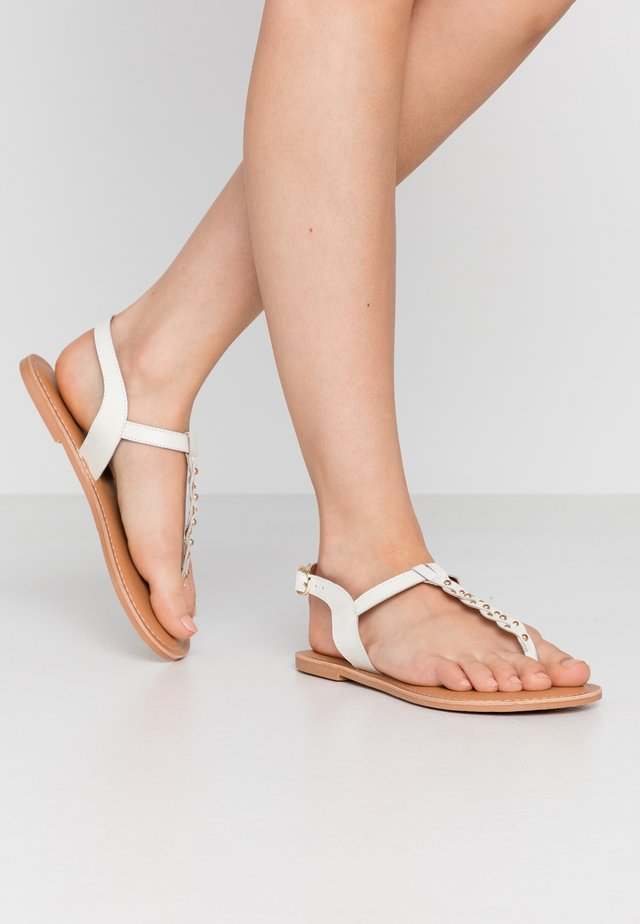 WIDE FIT GINA - T-bar sandals - offwhite