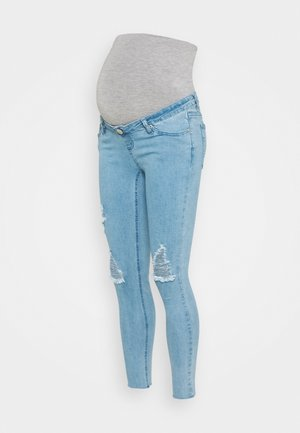 MATERNITY WREN WITH RIPS - Jeans Skinny Fit - light wash