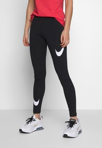 Nike Sportswear - Leggings - Trousers - black/white - 0