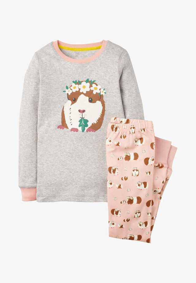 BEQUEMER - Pyjama set - dusty pink guinea pigs