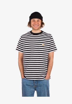 Print T-shirt - scotty stripe/black/white