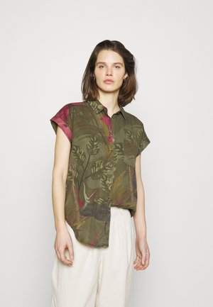 CAM ROUS - Button-down blouse - green
