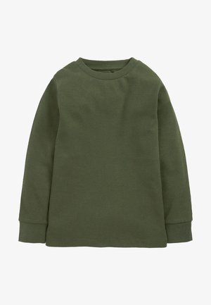 Langærmede T-shirts - khaki