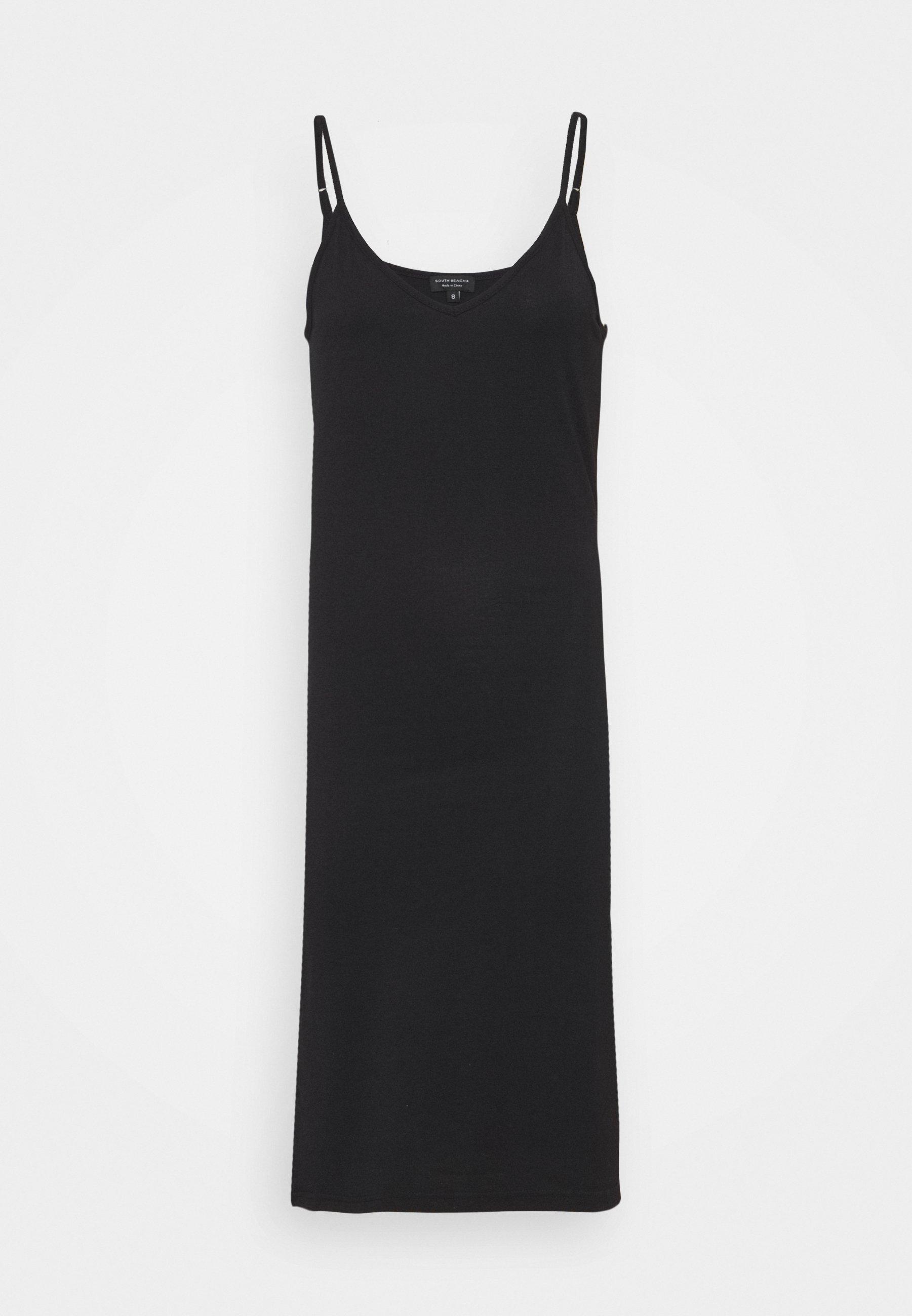 Women V NECK CAMI SPLIT SIDE MIDI DRESS - Jersey dress