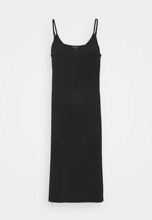 V NECK CAMI SPLIT SIDE MIDI DRESS - Žerzejové šaty - black