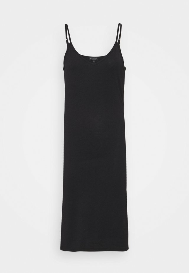 V NECK CAMI SPLIT SIDE MIDI DRESS - Robe en jersey - black