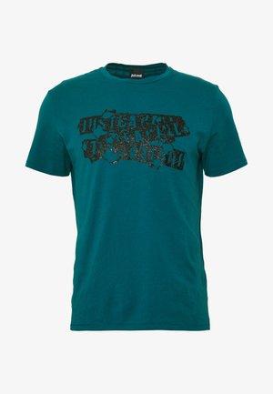 BURN LOGO - T-shirt imprimé - dark green