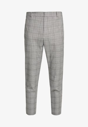 SLIM TROUSER MICRO CHECK - Trousers - grey