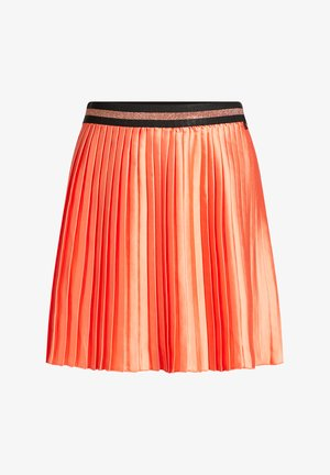 Pleated skirt - coral pink