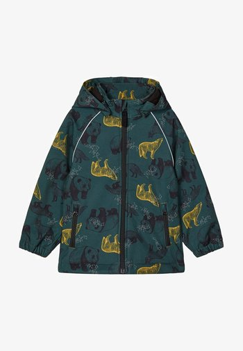 ALFA PANDA PRINT - Soft shell jacket - darkest spruce