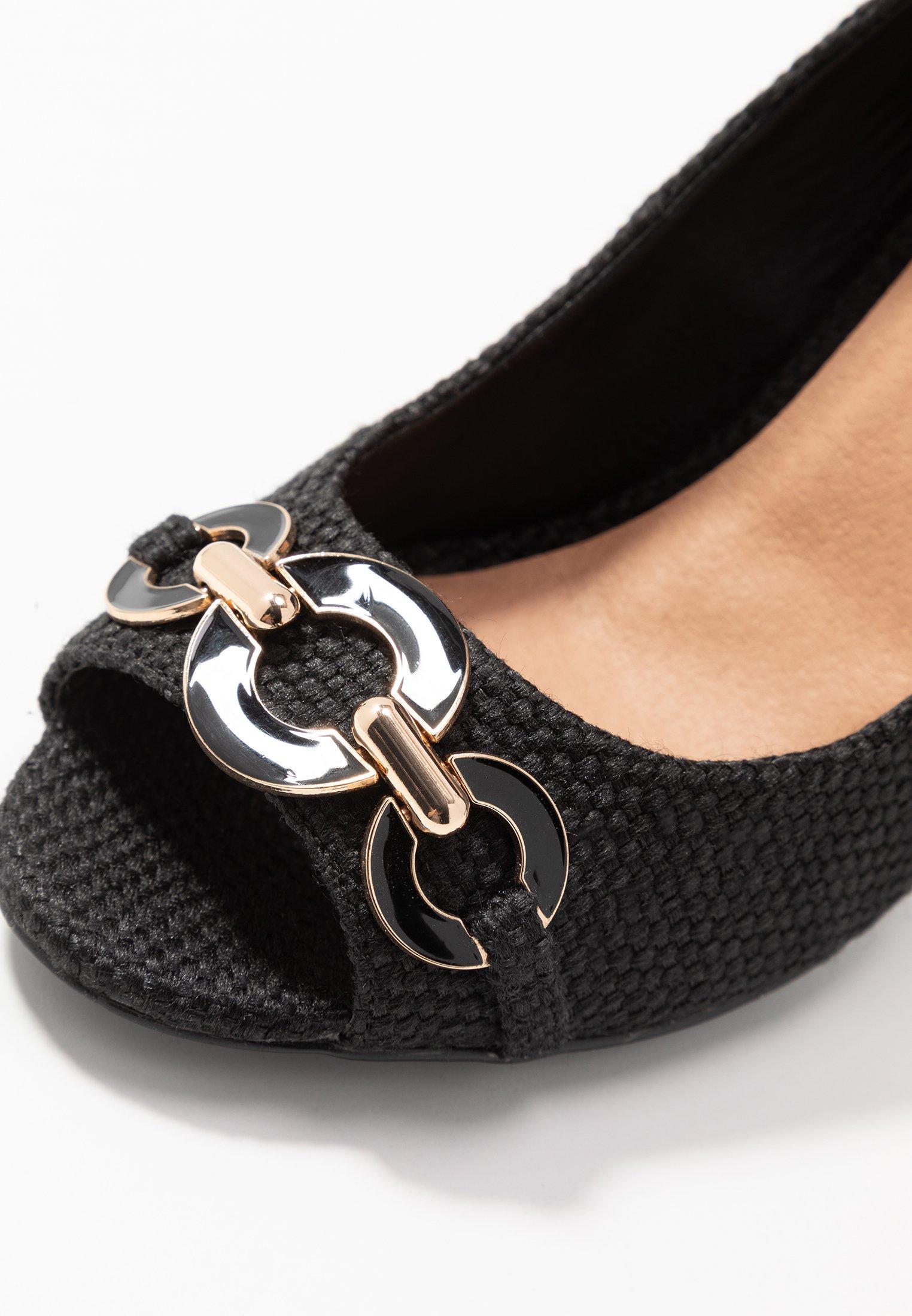 Wallis Church - Højhælede Peep-toes Black