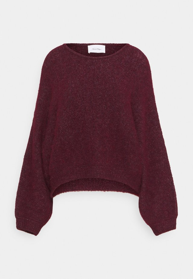 EAST - Pullover - bordeaux chine
