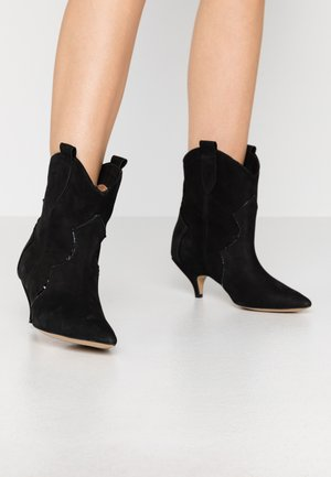 REACH OUT MORE - Cowboy/biker ankle boot - black
