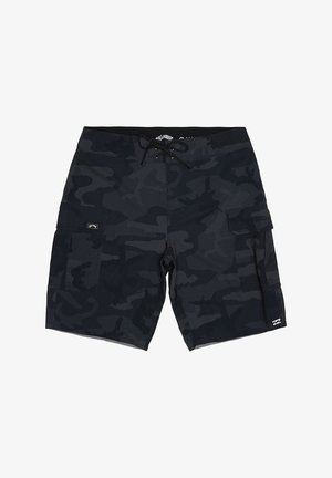 "COMBAT PRO 20"" - Swimming shorts - black camo"