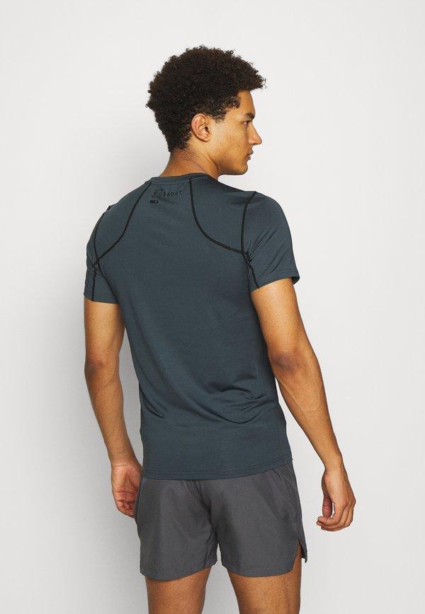 4F FELIAN - T-shirt z nadrukiem - khaki Odzież Męska GLMB