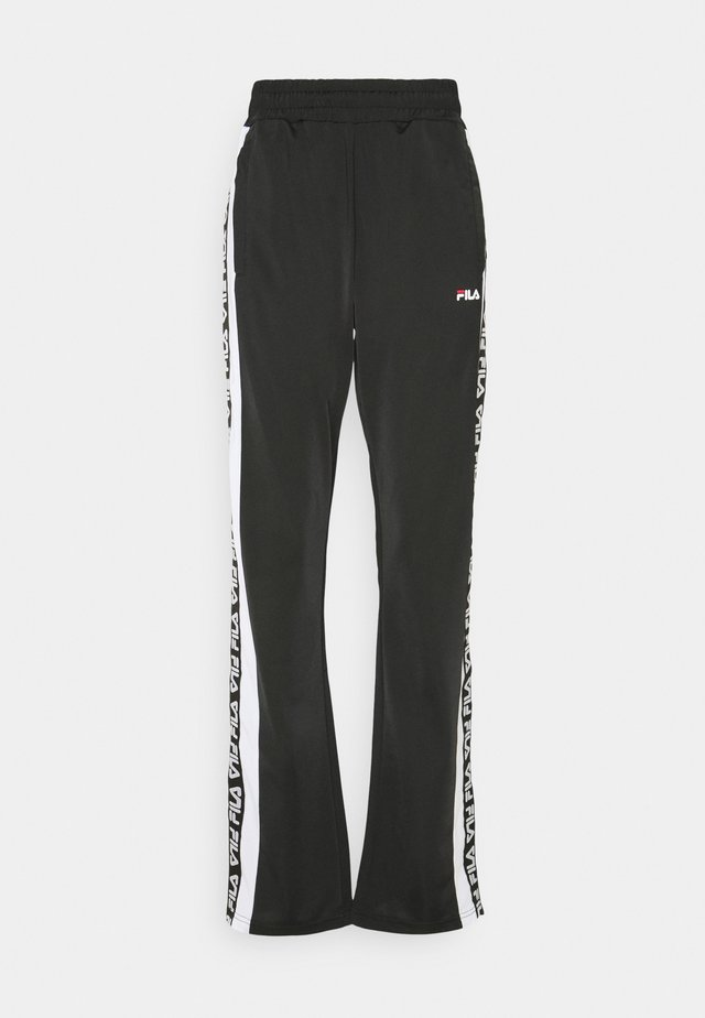 TAO TRACK PANTS OVERLENGTH - Tracksuit bottoms - black/bright white