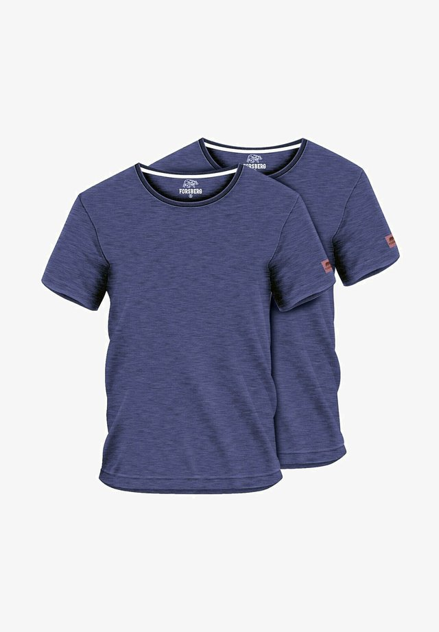 2 PACK - Basic T-shirt - navy melange