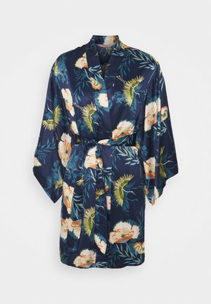 KIMONO LOTUS BIRD - Dressing gown - dark teal