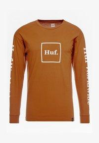 HUF - DOMESTIC TEE - Pitkähihainen paita - rust - 4