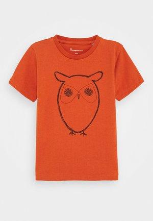 FLAX OWL - Print T-shirt - orange