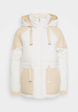 CK ECO BLOCKING PUFF - Winter jacket - irish cream/soft cream