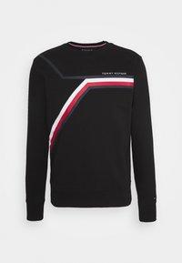 SPLIT CORP STRIPE CREWNECK - Sweatshirt - black