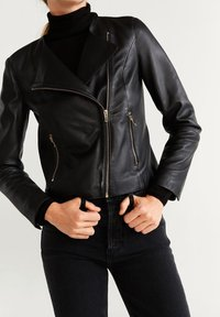 Mango - BIKERJACKE AUS LEDER - Leather jacket - schwarz - 3