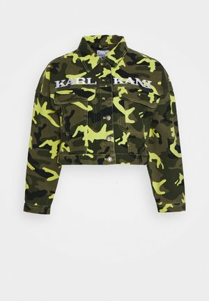 SHORT CAMO TRUCKER JACKET - Džínová bunda - green