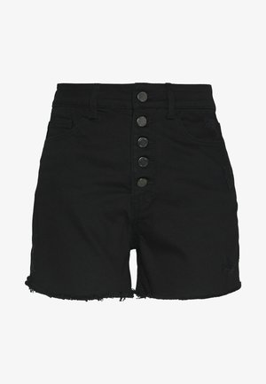 BUTTON FRONT MOM  - Denim shorts - black