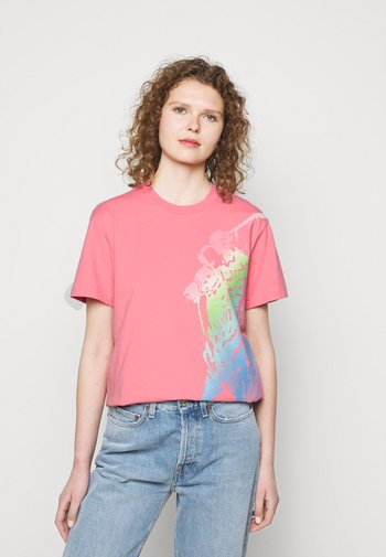 Triko spotiskem - ribbon pink