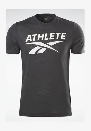 ATHLETE VECTOR GRAPHIC T-SHIRT - T-shirt print - black