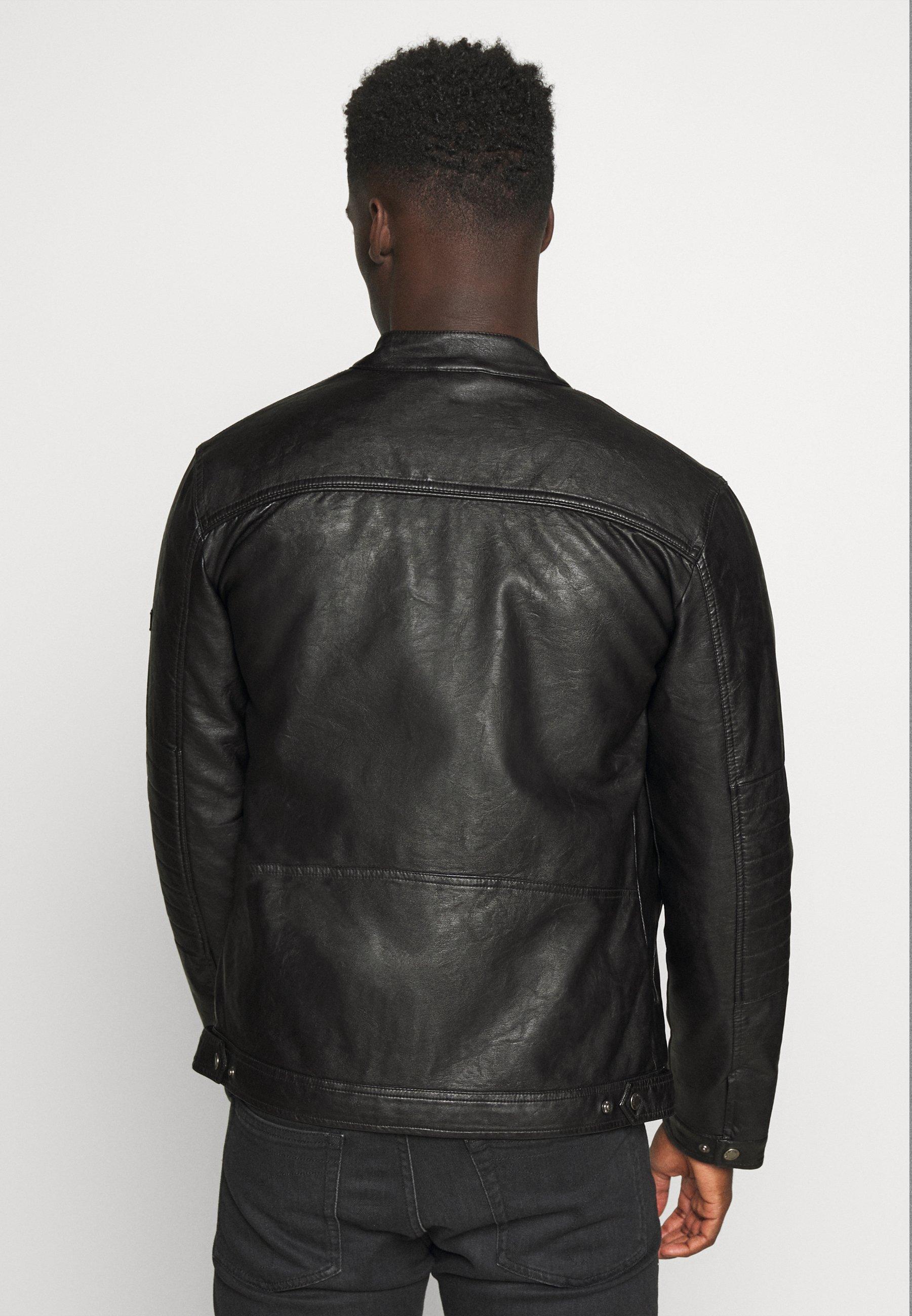 Indicode Jeans Berry - Imitert Skinnjakke Black/svart