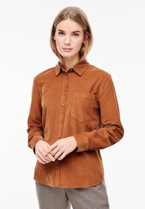 MIT KARO-DETAILS - Button-down blouse - brown