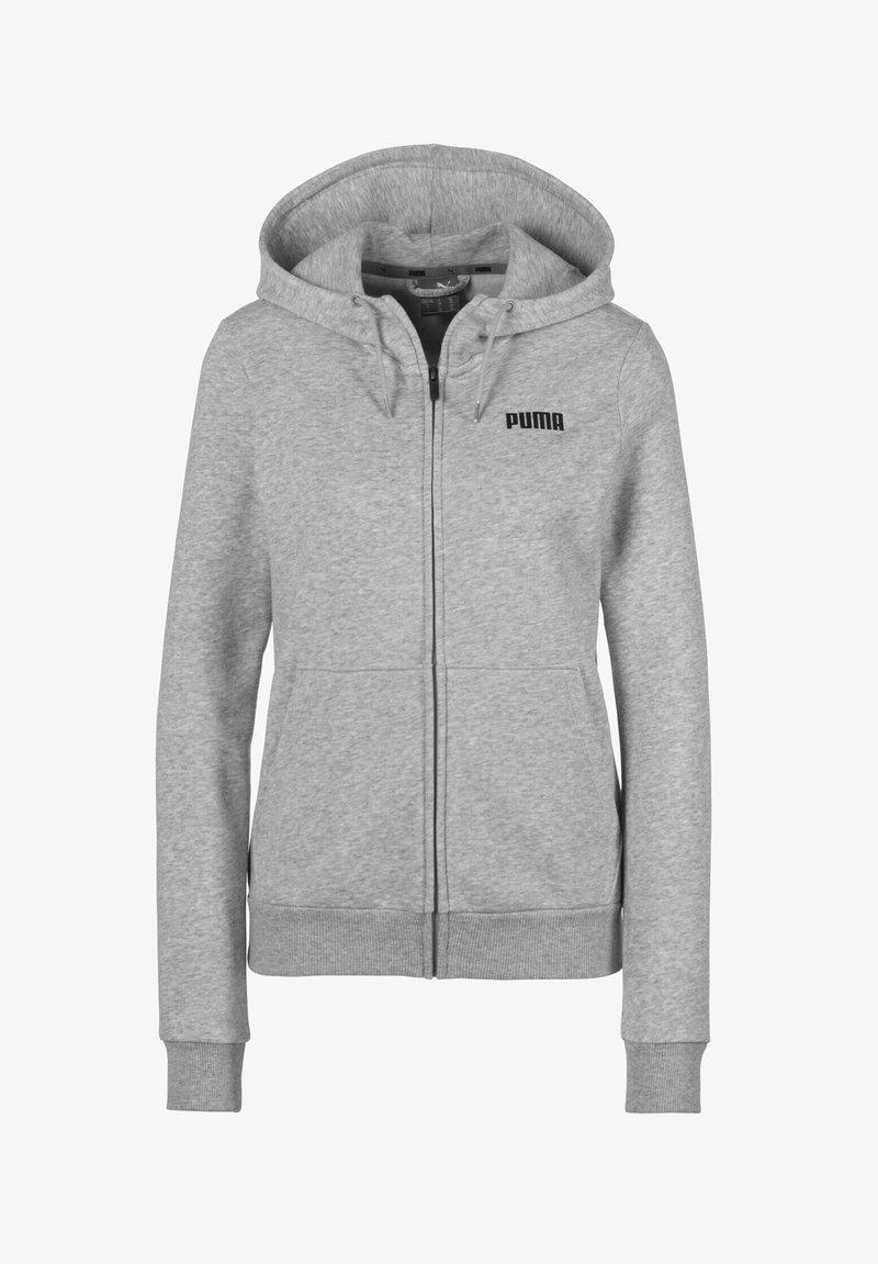 Puma - ESSENTIALS - Sweat à capuche zippé - light gray heather