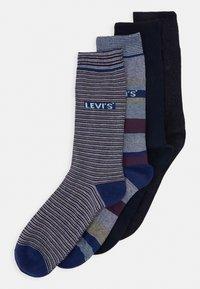 Levi's® - GIFTBOX REGULAR CUT STRIPES 4 PACK - Socks - blue combo - 0