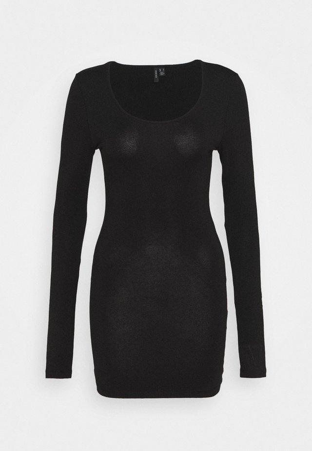 VMMAXI SOFT LONG U-NECK - Long sleeved top - black